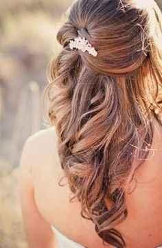 1. Peinado novia pelo suelto