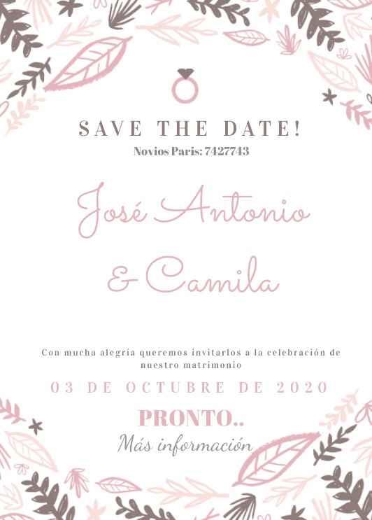 Save the date (votación) - 2
