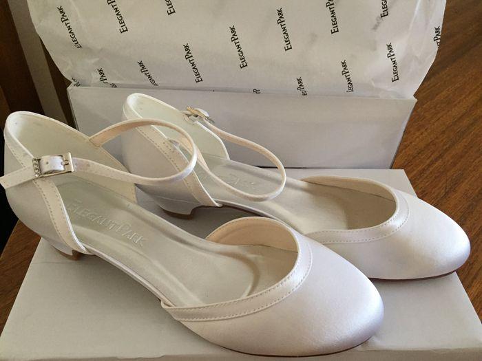 Zapatos novia taco bajo 1