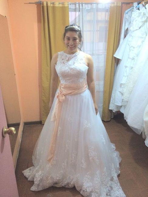 solo fotos de vestidos comprados por internet.