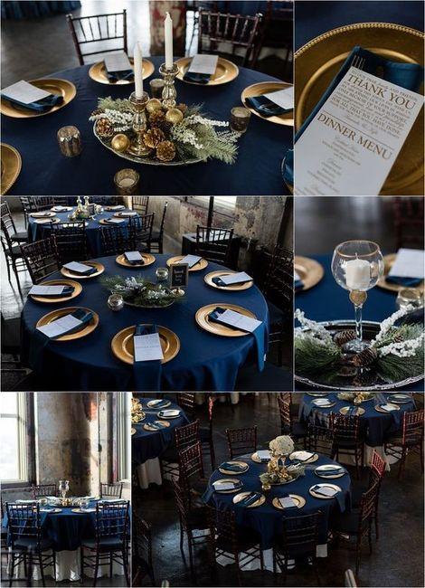Mesas y manteles de inspiración azul 3