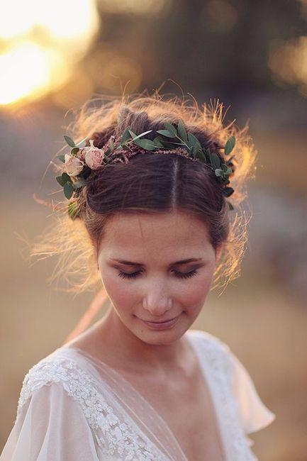 Peinados novia hippie chic