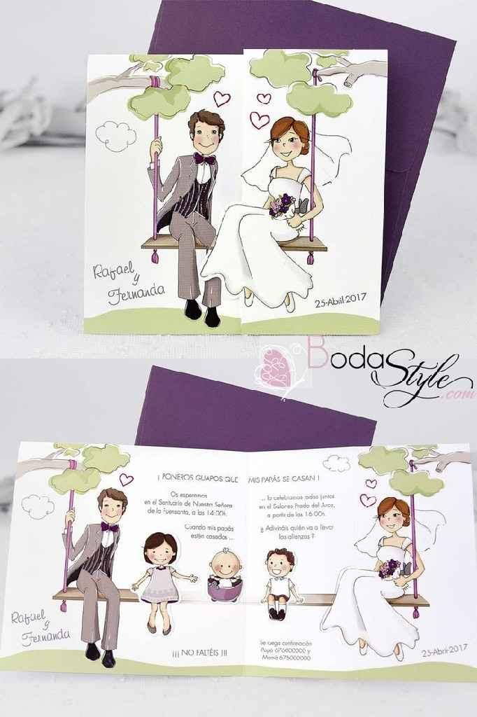 Ideas para tarjetas invitacion boda-bautizo - 1