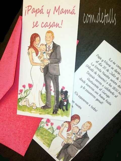 Ideas para tarjetas invitacion boda-bautizo - 2