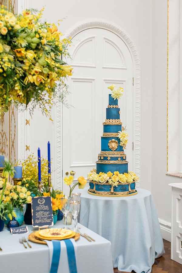 """Tortas con el """"algo azul"""""""