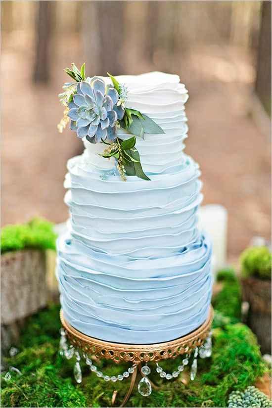 """Tortas con el """"algo azul"""" tono pastel"""