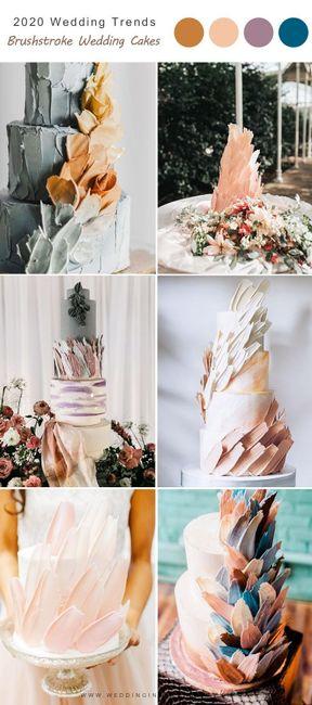 Torta con textura de pinceladas