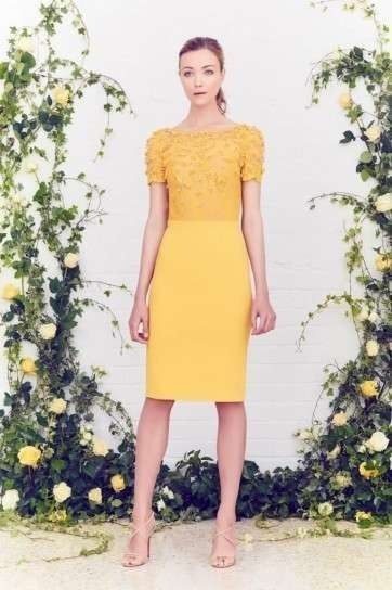 2a4f1609d0823 Vestido tubo Vestidos boda Civil en amarillo 2