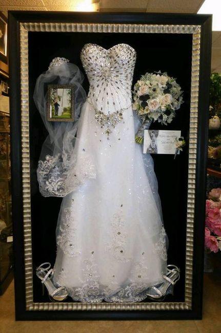 ideas para guardar el vestido de novia
