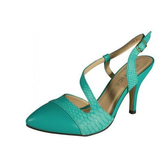 Zapatos verde esmeralda 1