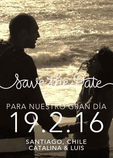 """Nuestra foto """"save the date"""""""