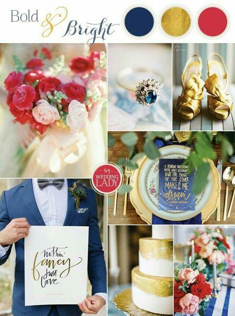 Consejos paletas de colores para matrimonio de noche!