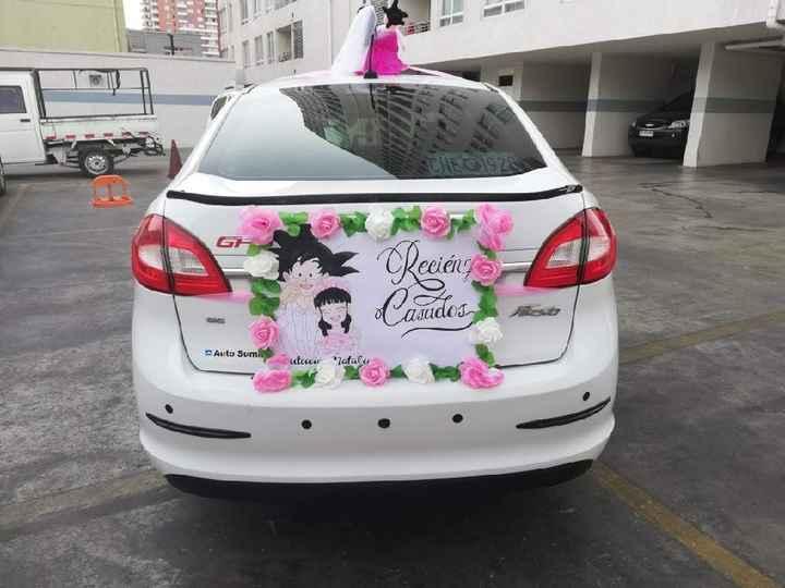 ¿Cómo decorarán el auto de novios? - 2