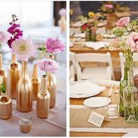 Las botellas para las mesas