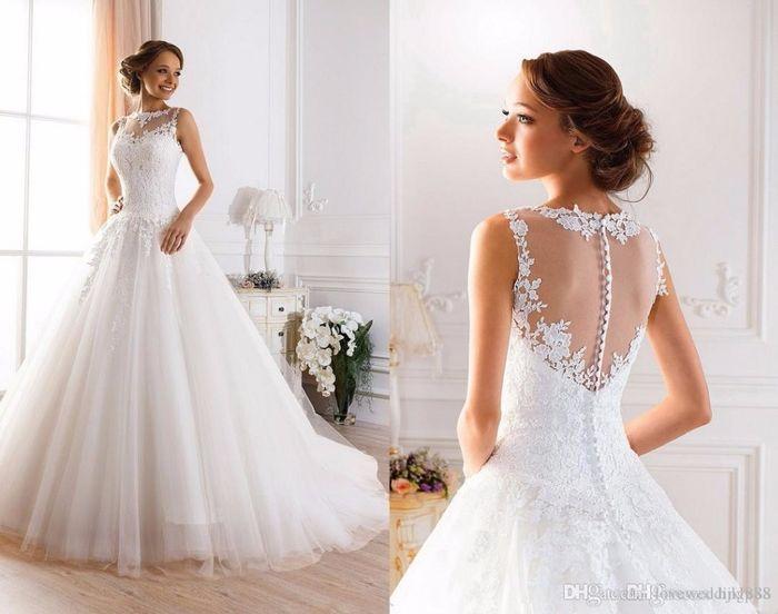 mi vestido de novia perfecto es: romantico.