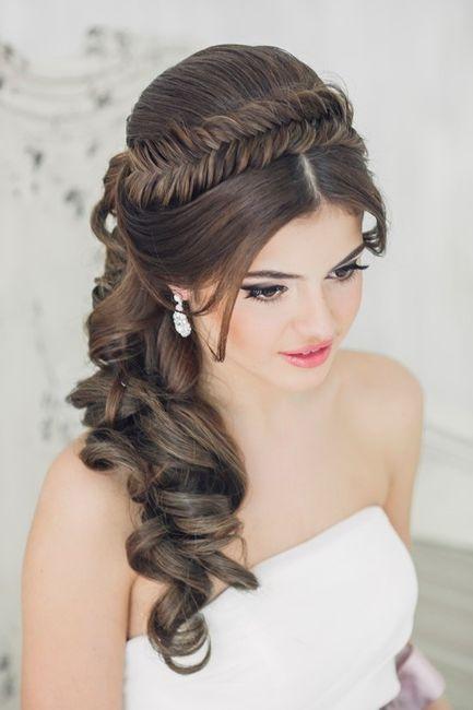 peinado con trenza para novia - Peinados Con Trenzas