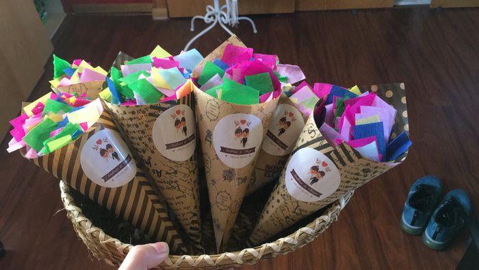 Manualidad 7 ♡ Confetti para lanzar a los novios ♡ 2