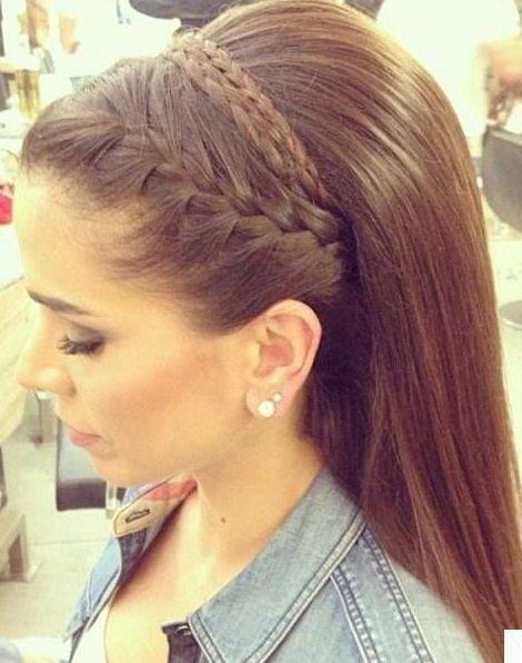 Peinados para novias cabello largo lacio