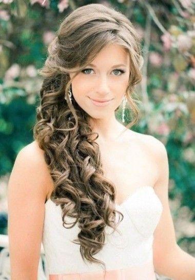 Peinados novia de lado