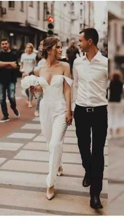 ¿Vestido o pantalón? Matrimonio civil - 1