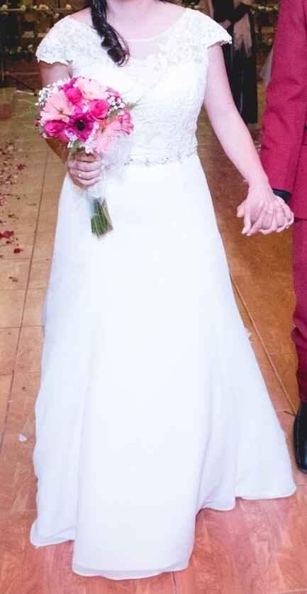 Se vende vestido de novia muy bonito - 5