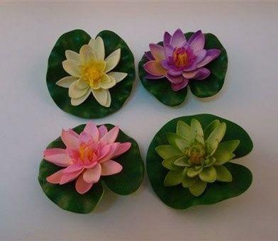 Como hacer una flor de loto en goma flores manualidades for Como hacer una laguna