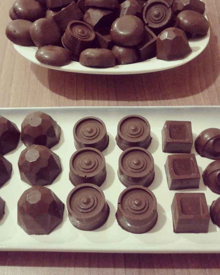 chocolates listos y distintos diseños