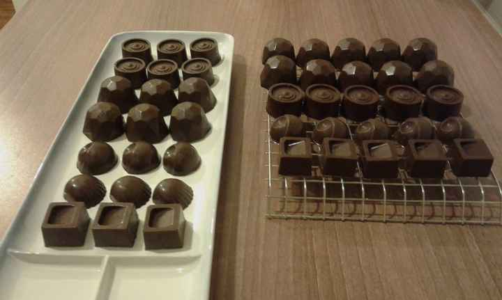 chocolates caseros listos