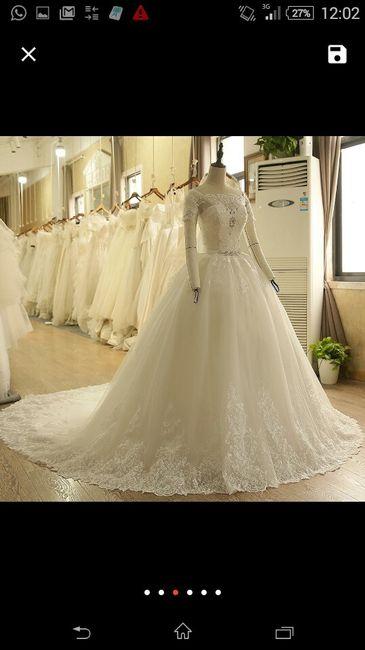 datitos vestidos de novia aliexpress!!