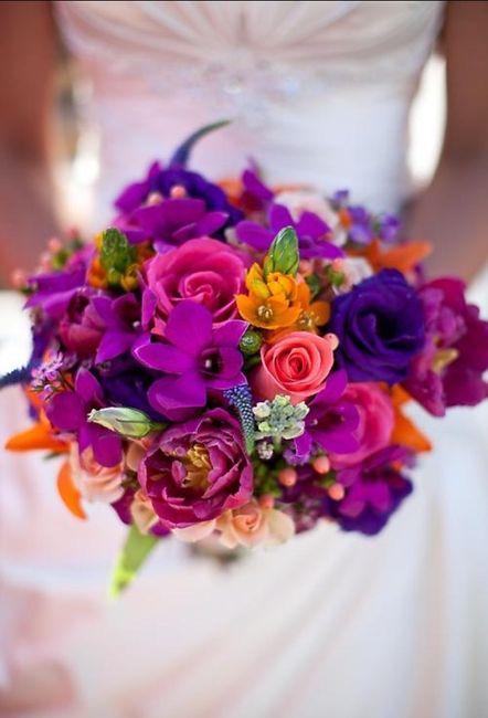 Inspiración: Ramos de novia Multicolor 🌈
