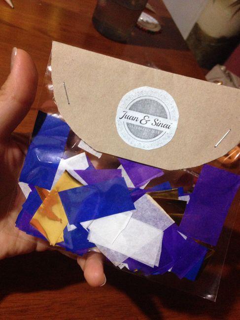 Manualidades: bolsitas y conos para el confeti y canasto 3