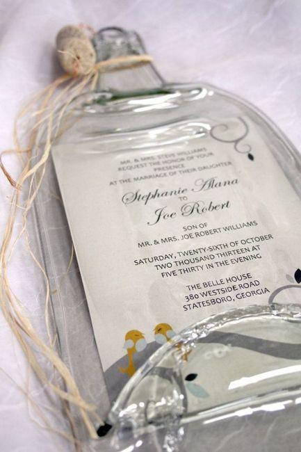 Invitaciones Creativas En Botella De Vidrio - Invitaciones-de-boda-en-botella