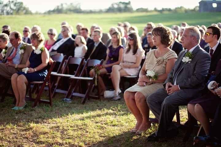 Ceremonia de boda ¿invitados sentado o de pie?