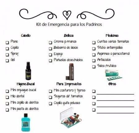 8bc17946f Kit de emergencia para damas de honor, padrinos, etc.