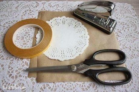 Paso a paso para conos de blonda y papel craft - Hacer conos papel ...
