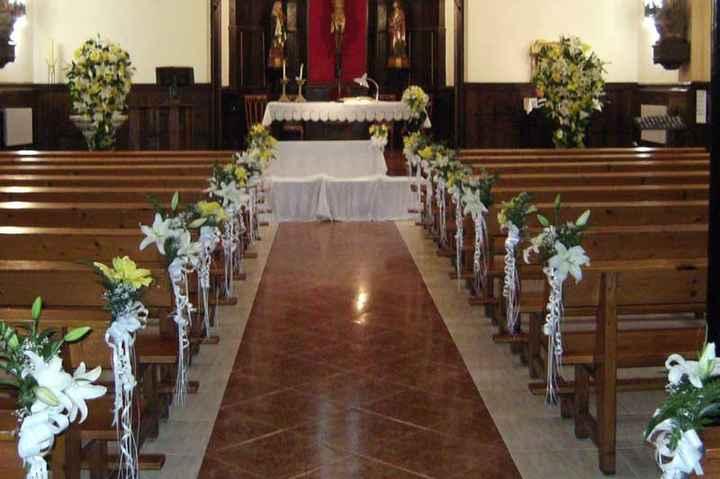 Decoración de flores iglesia - 2
