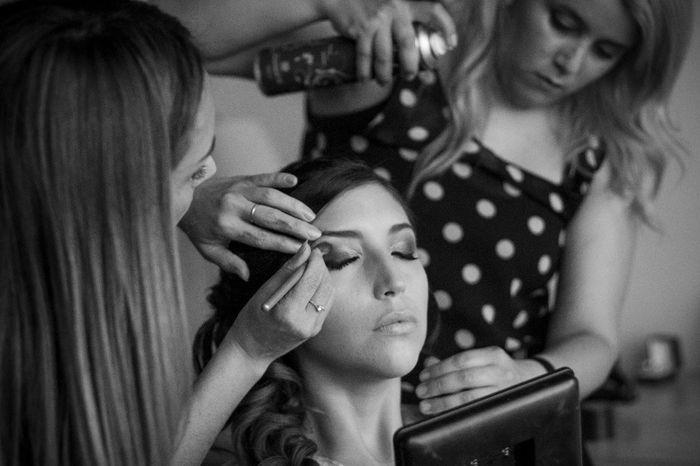 Makeup junto a Mónica y Coni