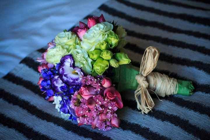 Ramo de flores, hecho por mi amiga Manu y yo! (El mismo día del matriii)