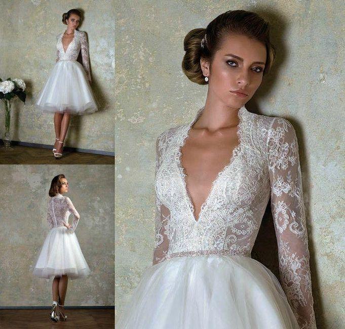 Vestidos de novia civil cortos santiago chile