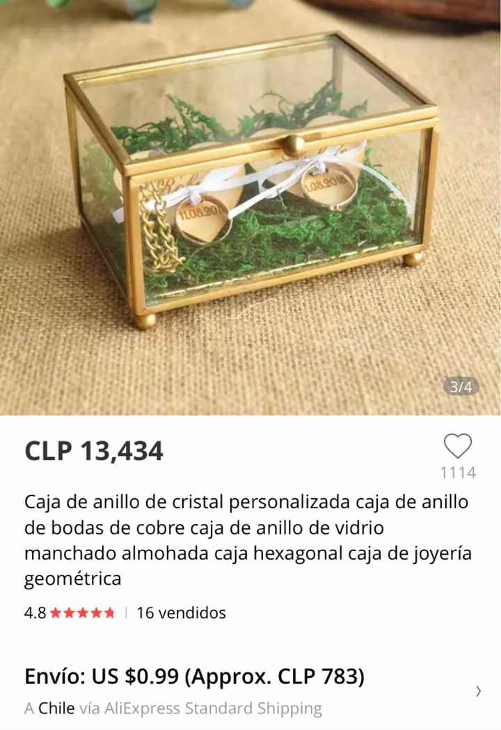 Caja para los anillos 💍 - 2