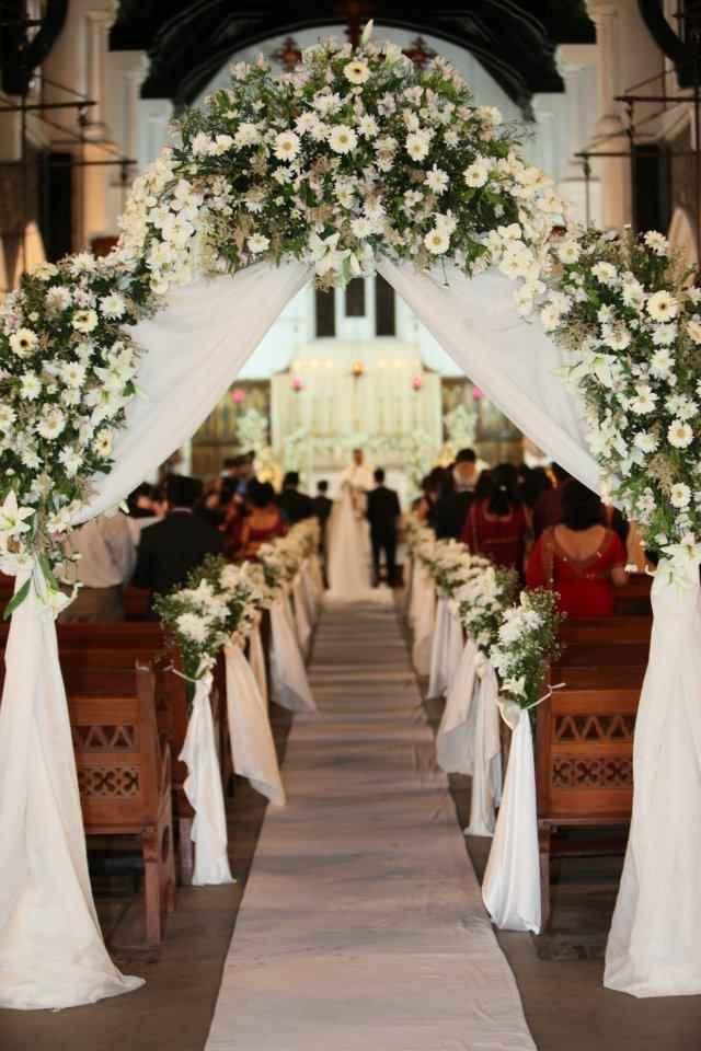 ¿Con qué van a decorar el pasillo de su ceremonia? - 1