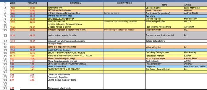 Pauta y Horarios de mi Gd! 1