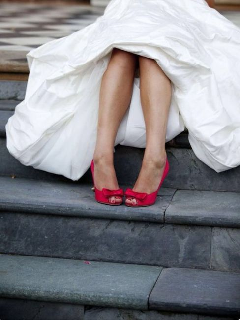 Zapatos de novia Rojo 3