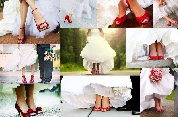 Zapatos de novia Rojo 4