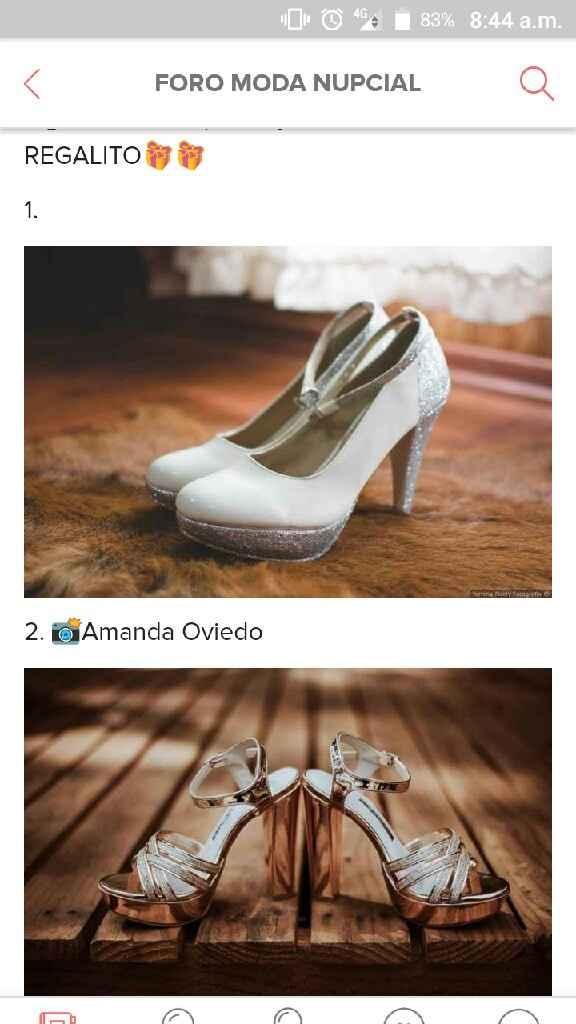 Feña, si hoy me casará sería con estos zapatos 😘 - 1