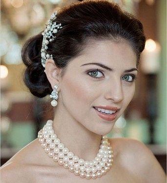 Novia Normal con perlas