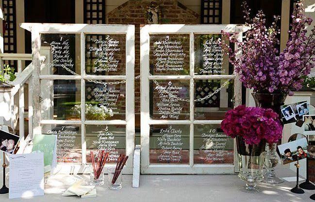 Centrotavola Matrimonio Rustico Fai Da Te : Atril para mostra distribucion de mesas