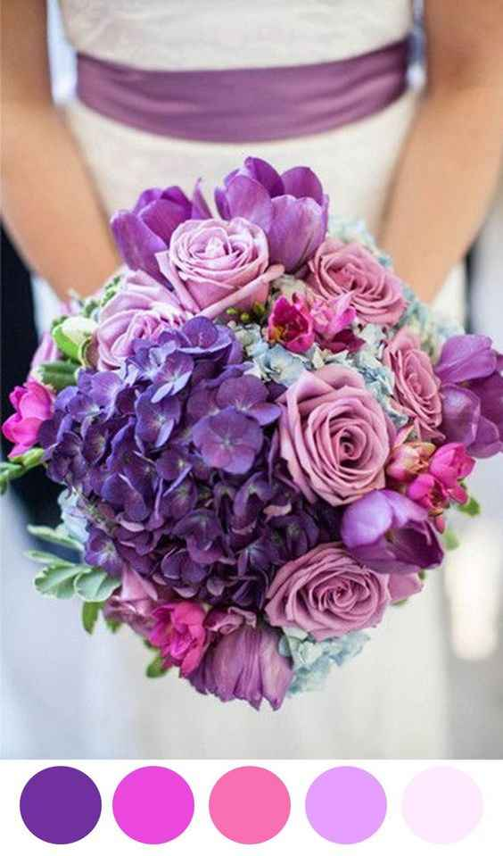 Inspiraciones bodas en Morado - 2