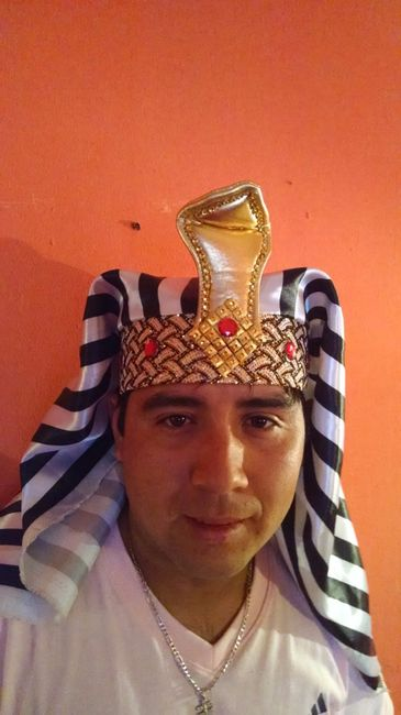 Tocado de novio de Faraon
