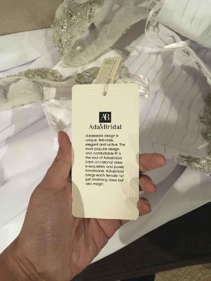 ¿Cuál es la marca de tu vestido de novia? - 1